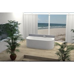 Back to wall combiwhirlpoolsysteem Monamour 180x80